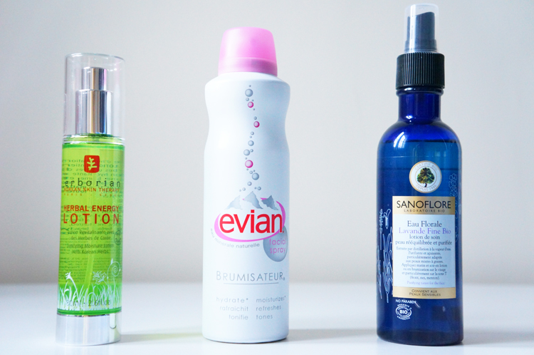 Hydratation visage été - Sanoflore -Erborian - Evian