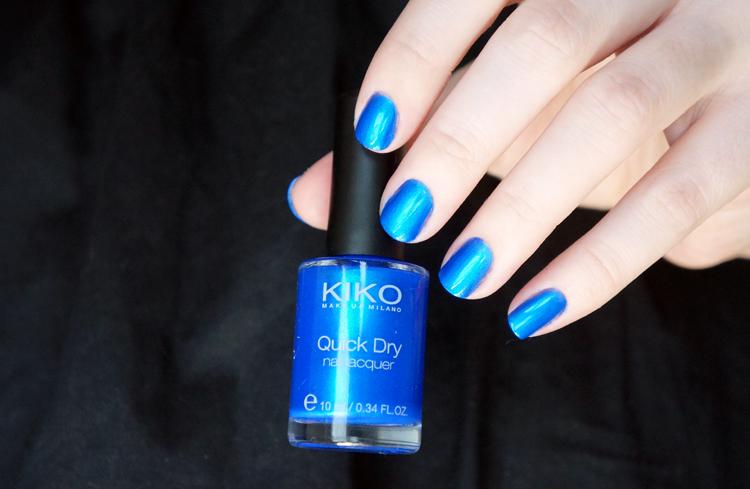 Kiko Quick Dry NailLaquer Vernis avis test swatch n°830 Bleu métallique