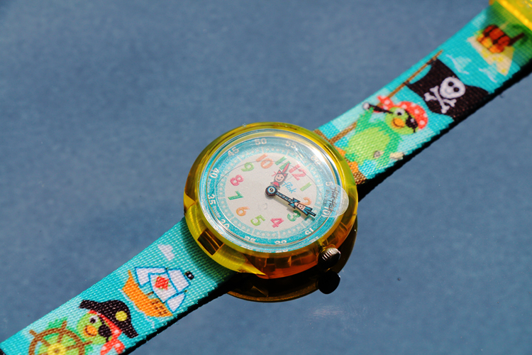 Montre Flik Flak Cute Size Funny Hours Parrot of the seas
