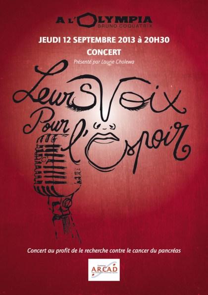 Leurs Voix pour l'Espoirs 2013 affiche concert olympia france -