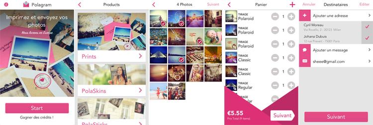 polagram application test avis iphone photos