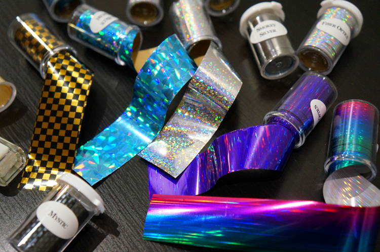 Foil Nail Art ongles swatch