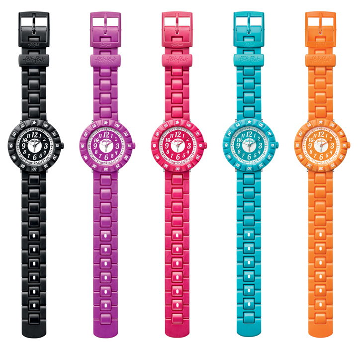 Montres Color Shake Flik Flak full size girls