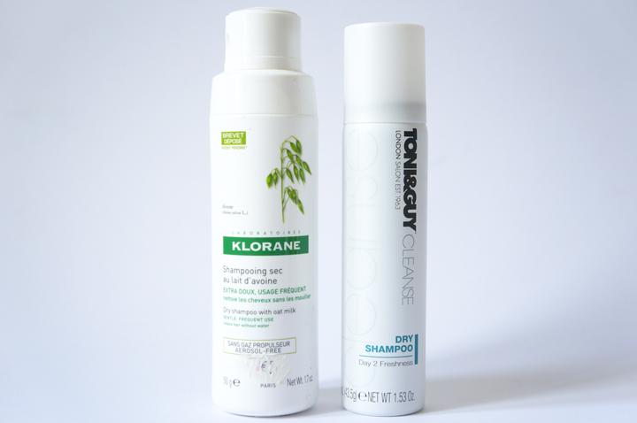Routine cheveux longs Shampoings secs Klorane lait d'avoine poudre - Toni and guy Cleanse dry shampoo test avis