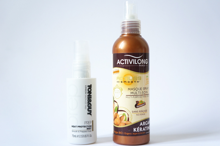 Routine cheveux longs Toni and Guy Heat Protection Mist - Masque Spray Multi soin activilong test avis
