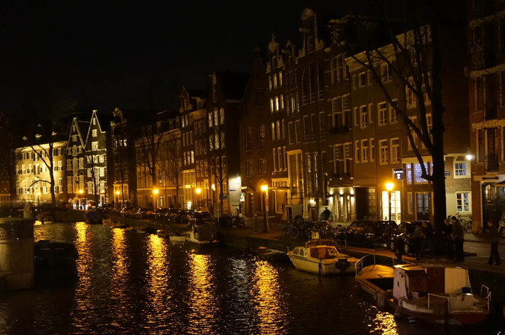 Amsterdam Weekend canaux nuit