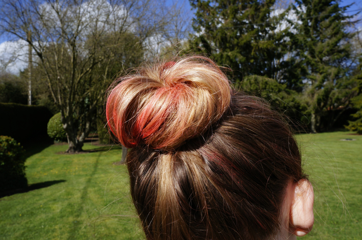NOCIBE craie cheveux test avis coiffure chignon bun