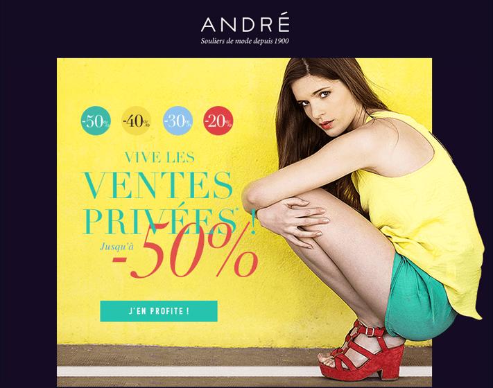 Vente privée André chaussures