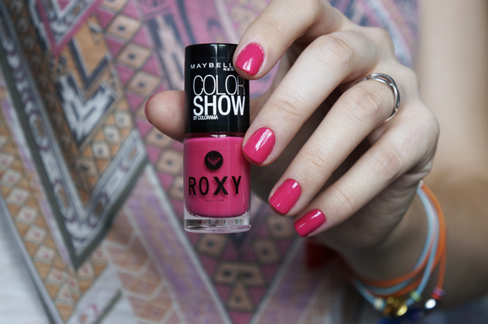 Vernis Roxy Gemey Maybelline Pop Surf - 83 Pink Bikini - swatch test avis