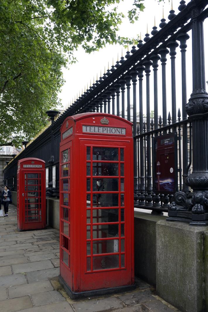 cabines téléphoniques anglaises - Weekend visite Londres la capitale anglaise