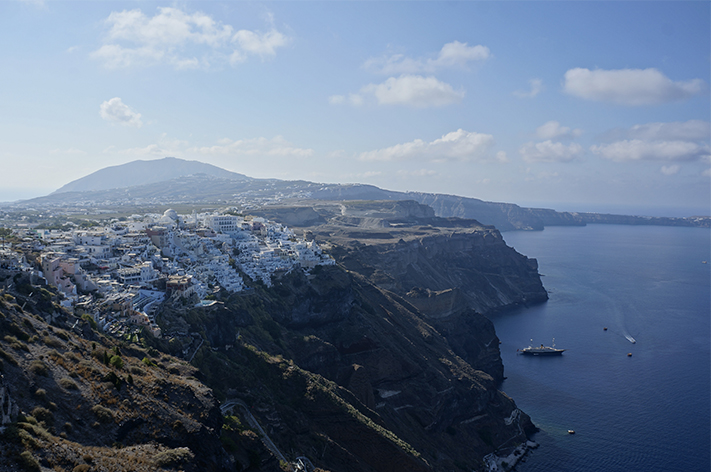 Santorin Santorini Grèce Voyage avis - Fira Caldeira