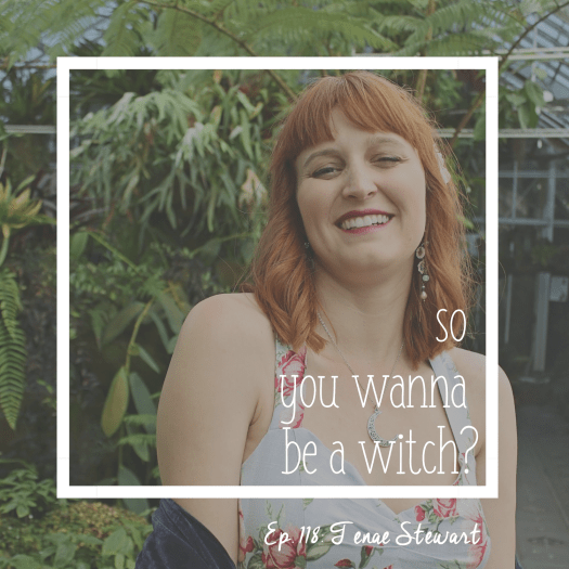 Episode 118 So You Wanna Be A Witch: Crafting a Cohesive Business with Tenae Stewart. Tenae smiling in front of a tree.