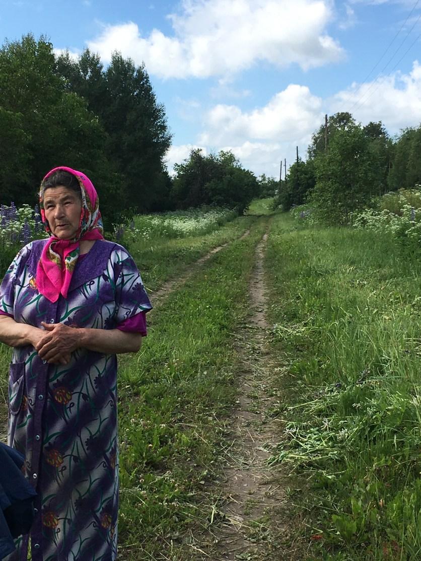 Raisa standing on main road of Samke