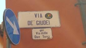 Bologna - Street Sign - jew street