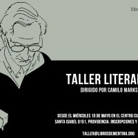 [Agenda] Taller literario dirigido por Camilo Marks