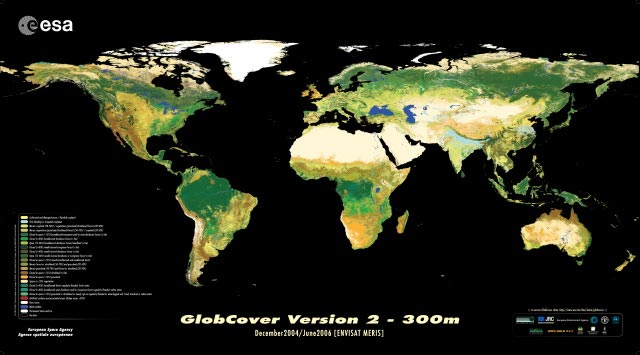 Mapamundi vista satélite