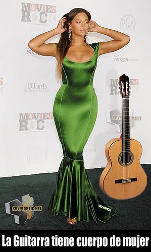 Beyonce, cuerpo de guitarra