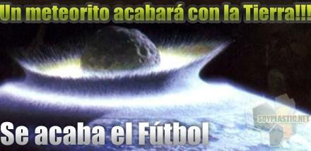 Un meteorito acabará con el fútbol