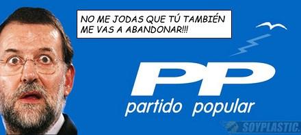 A Rajoy le abandona hasta el desodorante