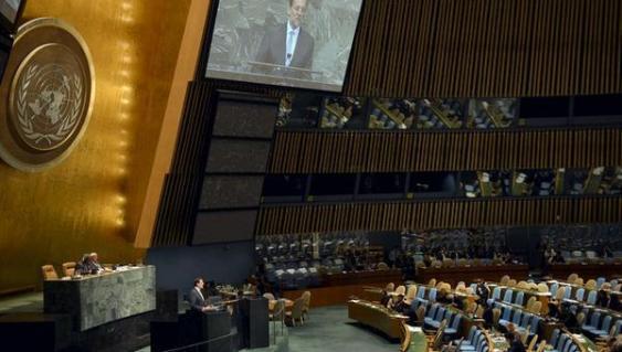 Rajoy ante la ONU. Los embajadores aprovecharon para ir al ambigú.