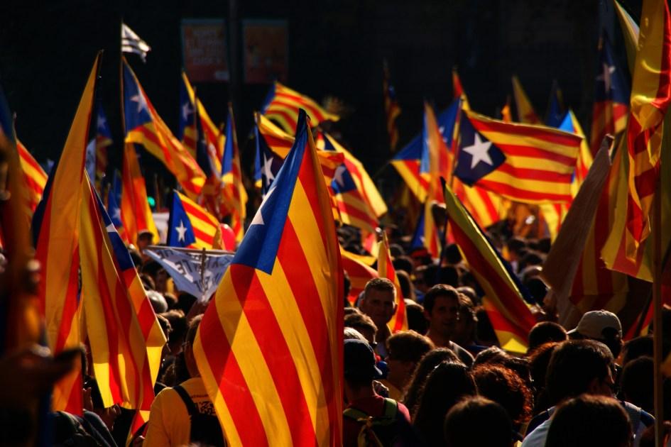 Banderas independentistas catalanas