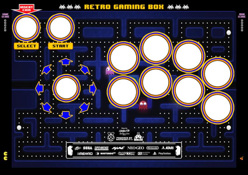Diseño tapa mando arcade