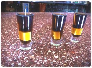 Three shots of Pasita
