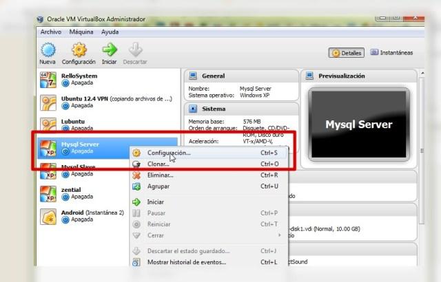 Oracle VM VirtualBox Administrador