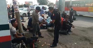 Autoridades de Celaya, brindan apoyo a 75 personas de la caravana migrante