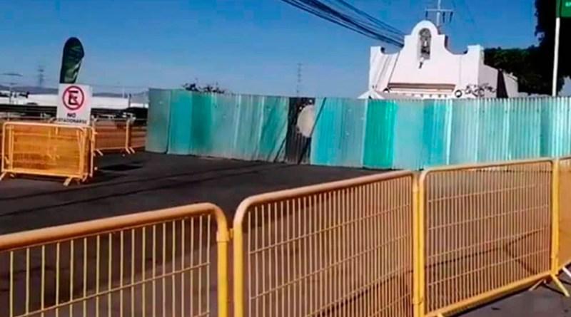 Cierran el paso a la capilla de San Judas Tadeo en El Marqués