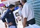 Roberto Sosa platicó con comerciantes de Prolongación El Jacal