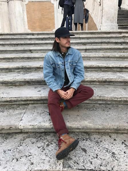 Sylish Daniel in his vintage jean jacket ;)