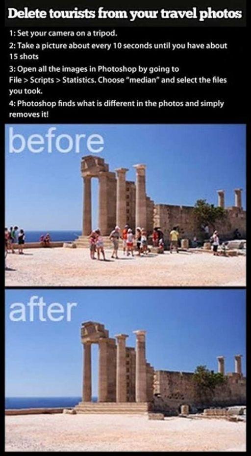 borrar turistas fotos
