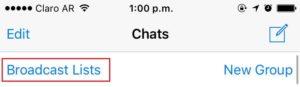 whatsapp lista de difusión