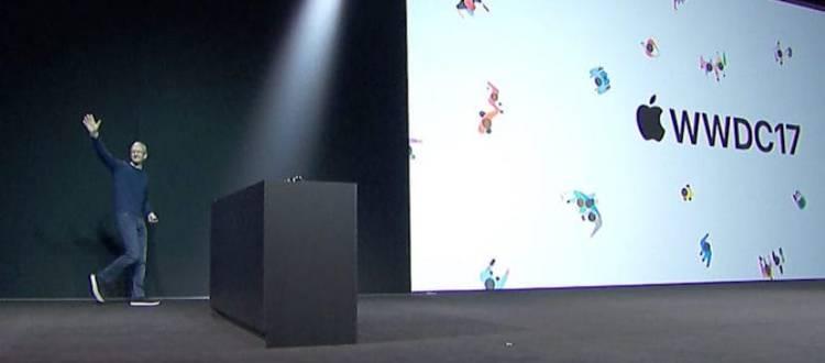 la presentación del software de Apple