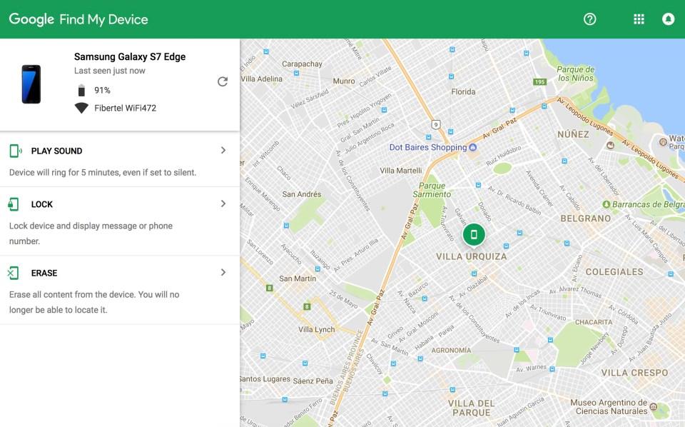 Encontrar tu celular Android