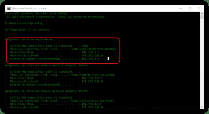 Entrar a la BIOS y configurar IP