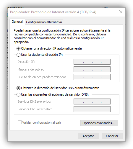 Cambiar IP