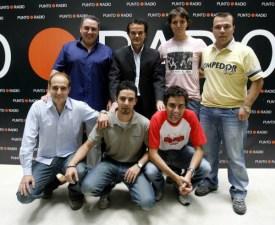 Año 2008. Equipo de deportes de Punto Radio