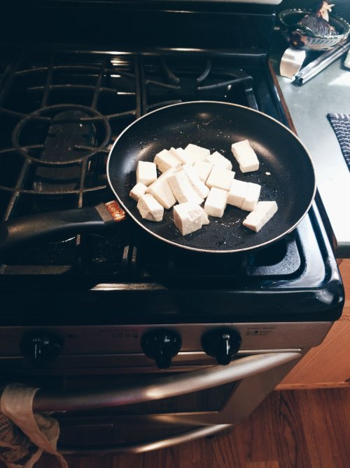cooking tofu