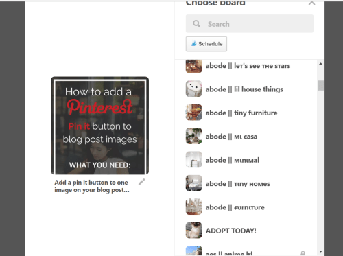 adding a pin it button to blog post images