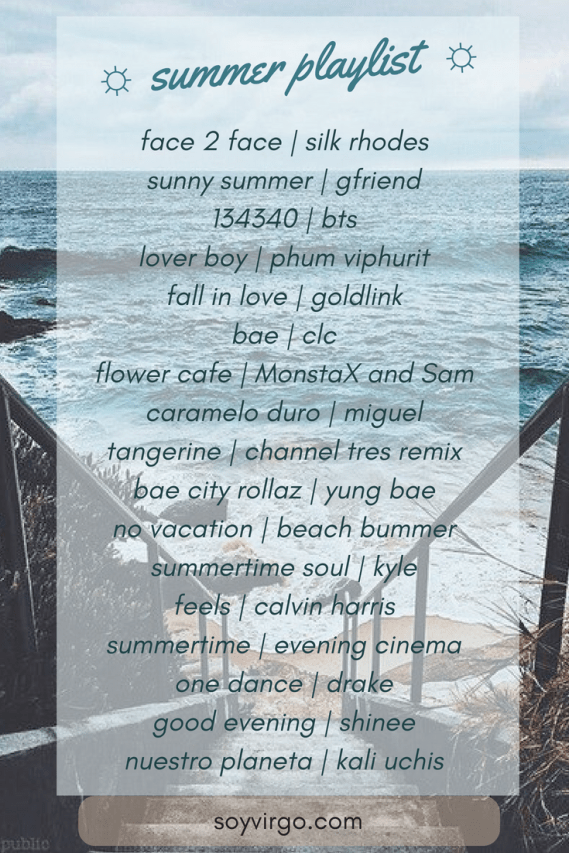 summer playlist by soyvirgo.com