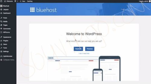 wordpress dashboard bluehost soyvirgo.com