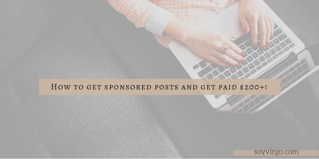 How I made my first $200 with my blog! (how to get sponsors to find you)