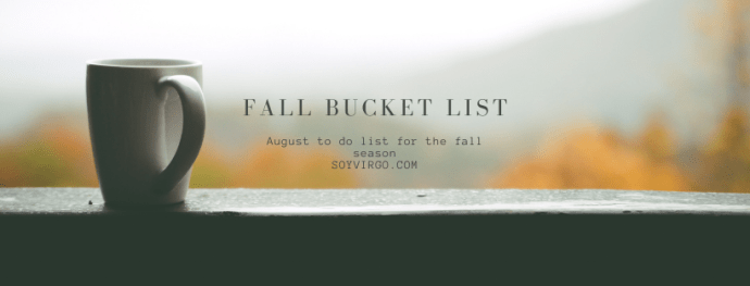 fall bucket list 2020 | soyvirgo.com