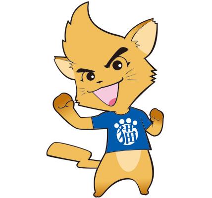 Tシャツを着た猫のイラスト