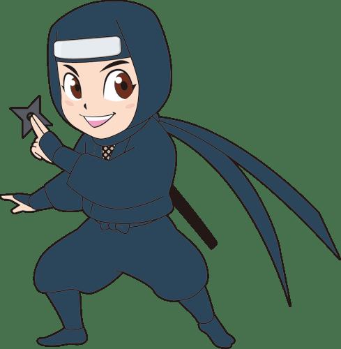手裏剣を持った忍者のイラスト