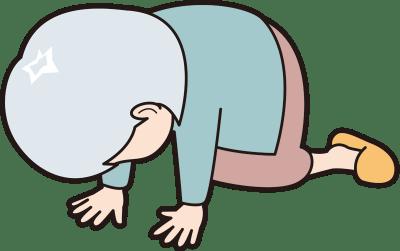 挫折するシニア女性のイラスト