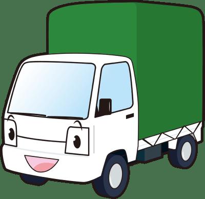 幌付きミニトラックのイラスト