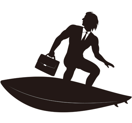 Businesss Surferのイラスト